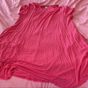 Pink TShirt Dress with pockets